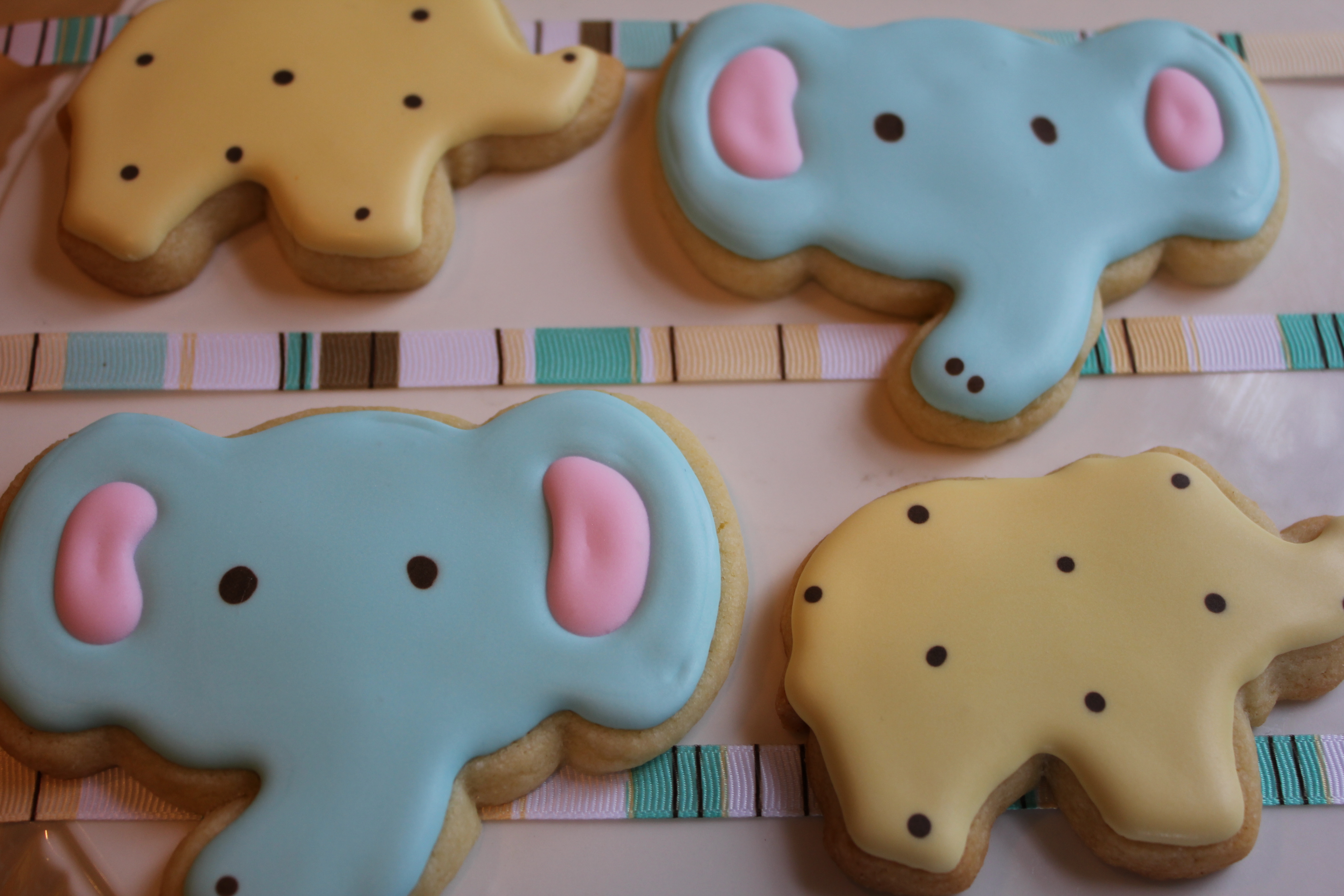 Its Raining Pachyderms Baby Shower Cookies Paddle Attachment