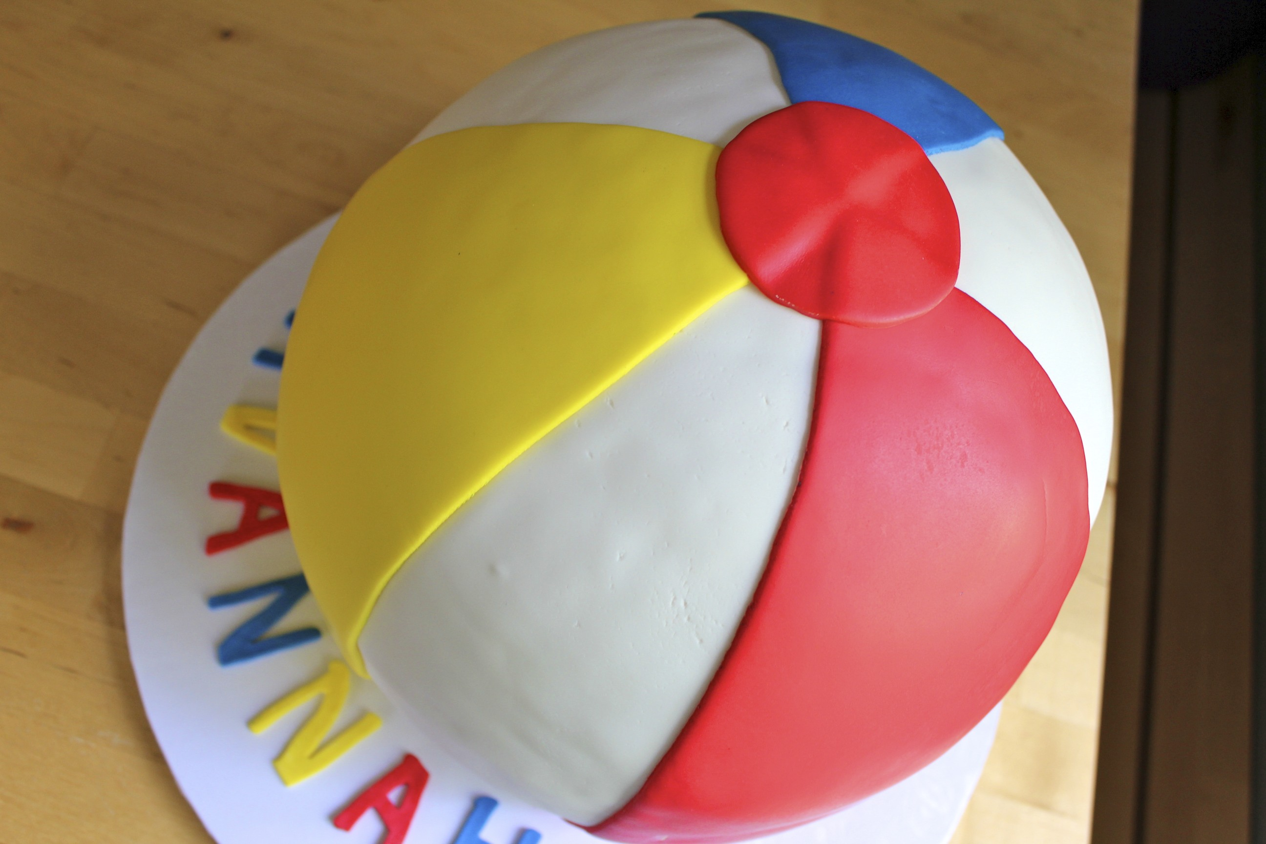 Beach Ball Cake Paddle Attachment